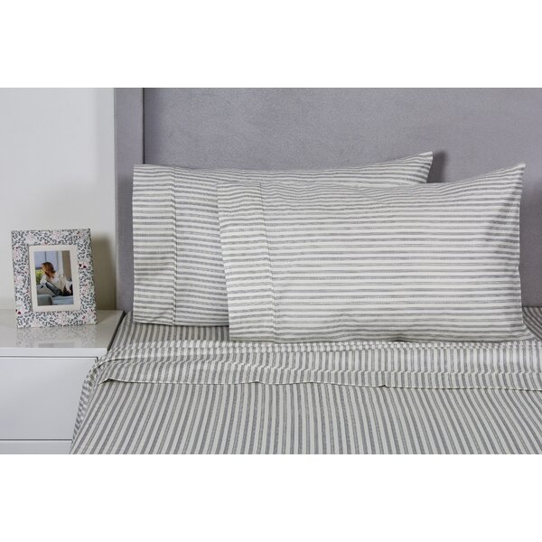 Carlson Stripe 400 Thread Count 100% Cotton Sheet Set by Eider & Ivory